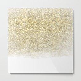 Glittery Glitzy Gold Metal Print