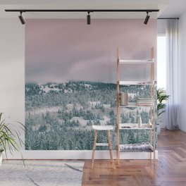 Blush Sky in Woodland Heights Wall Mural