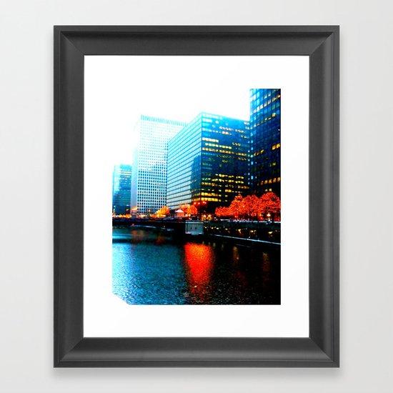 Burn This City Framed Art Print