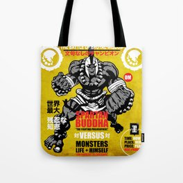 Spartan Buddha Fight Poster Tote Bag