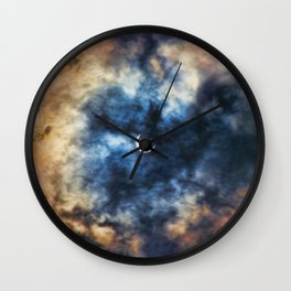 Night Moves - Partial Solar Eclipse Wall Clock