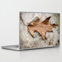 leaf Laptop & iPad Skins featuring leaf by Bonnie Jakobsen-Martin