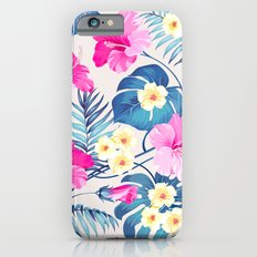 Tropical Pattern - Blue & Pink version Slim Case iPhone 6