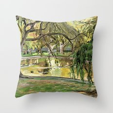 Public Garden 2 Throw Pillow