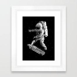 Kickflip in space Framed Art Print