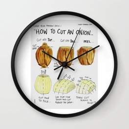 How to cut an onion Wall Clock