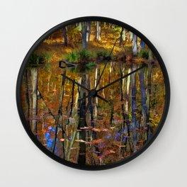 Autumn Reflections Wall Clock