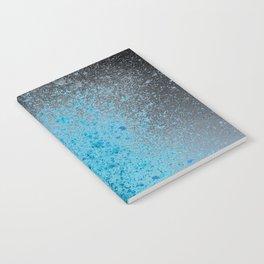 Blue and Black Spray Paint Splatter Notebook