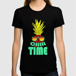 Chill Time Pineapple With Sunglasses T-shirt