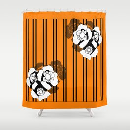 Flower and Stripes Shower Curtain