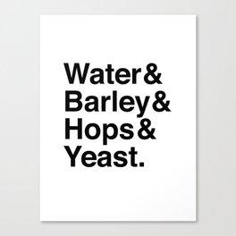 Beer Ingredients Canvas Print