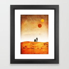 New Hope Minimalist Design Framed Art Print