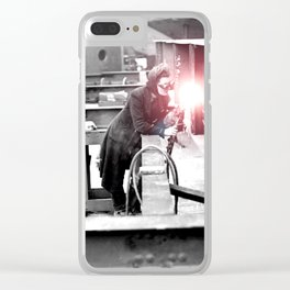 Vintage Female Welder / Oxy-Fuel Cutter Clear iPhone Case