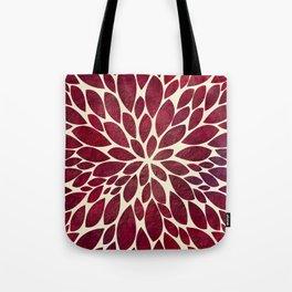 Petal Burst - Maroon Tote Bag