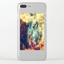 galaxy nebula stars Clear iPhone Case