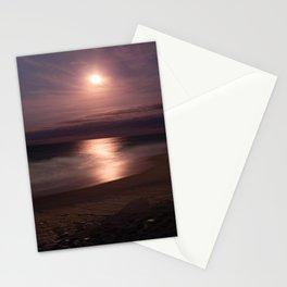 Full Moon At Nags Head Beach Stationery Cards