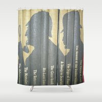 conan Shower Curtains featuring Sherlock Holmes by Sir Arthur Conan Doyle by Madreflections