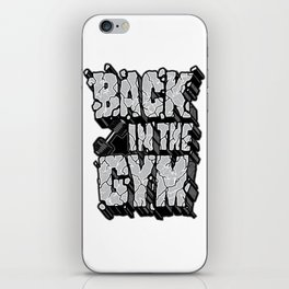 Back in the gym iPhone Skin