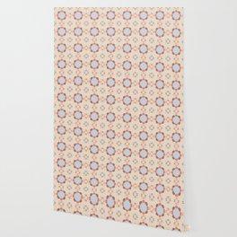 Blue Retro Tile Wallpaper
