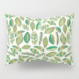 Tropical Jungle Leaves Pillow Sham