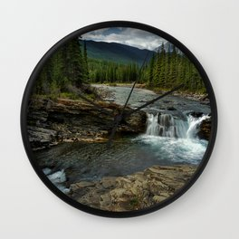 Sheep River Falls Wall Clock
