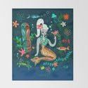 Blonde Leopard Martini Mermaid by fluffshop