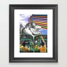 I Think We're Being Watched Framed Art Print