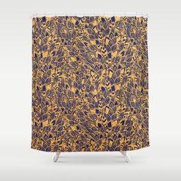 Golden Floral Shower Curtain