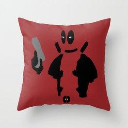 Minimal Deadpool  Throw Pillow