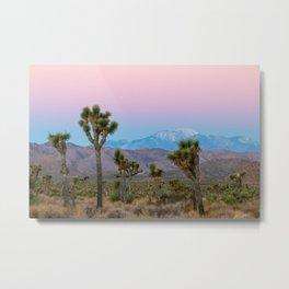 Sunrise Joshua Tree National Park Desert Vibes (Blue and pink) Metal Print