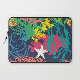 Coral Reef in Navy Laptop Sleeve