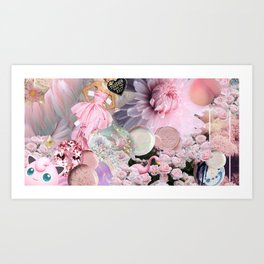 OK in Pink Art Print