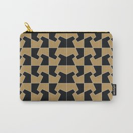 Abstract hexagon periodic tessellation pattern gamboge black Carry-All Pouch