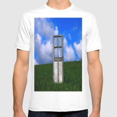 The Door MEDIUM White Mens Fitted Tee