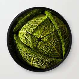 picture for the kitchen, green cabbage from the garden  Wall Clock
