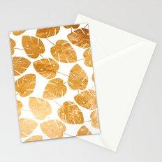 Gold leaf pattern 03 Stationery Cards