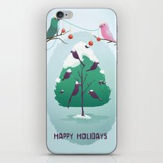 Happy Holidays - A Parrots Christmas  iPhone & iPod Skin