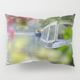 The Flowering look at a boat on the Little Venice canals in London | Color Photography | Travel Photography | Photo Print | Art Print Pillow Sham