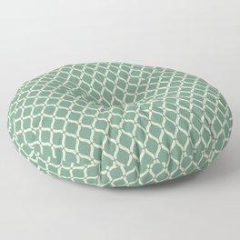 Green Geometric Pattern Floor Pillow