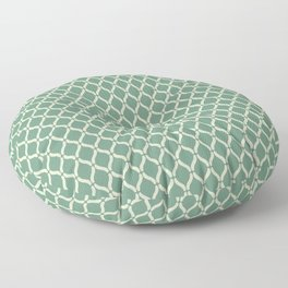 Green Geometric Pattern Floor Pillow