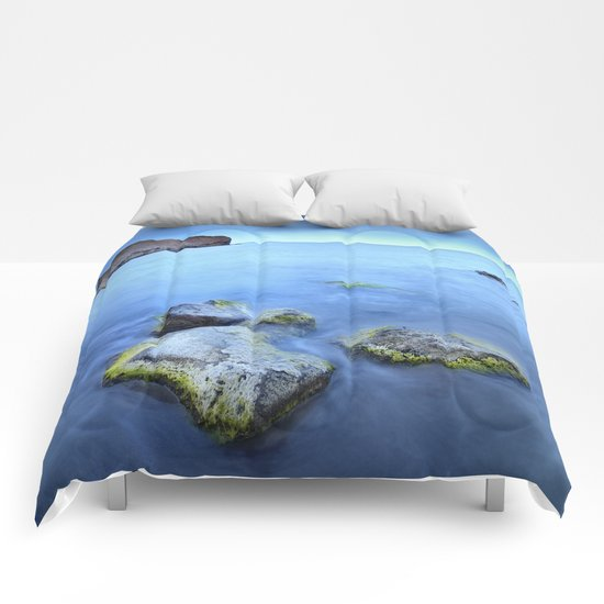 """Blue sunset"". Cabo de Gata Natural Park Comforters"