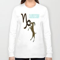 capricorn Long Sleeve T-shirts featuring Capricorn by LBH Dezines