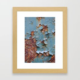 Cracked paint, abstract background Framed Art Print