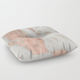 Marble Rose Gold Shimmery Marble Floor Pillow