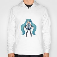 vocaloid Hoodies featuring Digital Song by Nozubozu