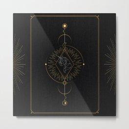 Tarot geometric #4: Unicorn Metal Print