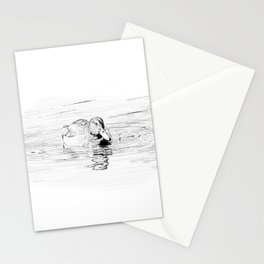 Duck Sketch Stationery Cards