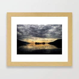 Ellen Island Sunrise Framed Art Print