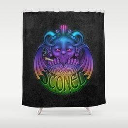 Celtic Stoned Gargoyle Shower Curtain
