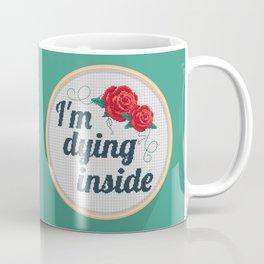 Brutally Honest Cross Stich Coffee Mug